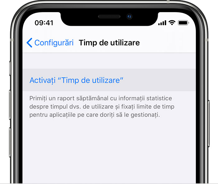 activați Screen Time