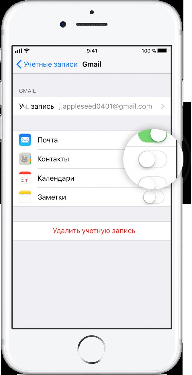 Связанные контакты в айфоне это