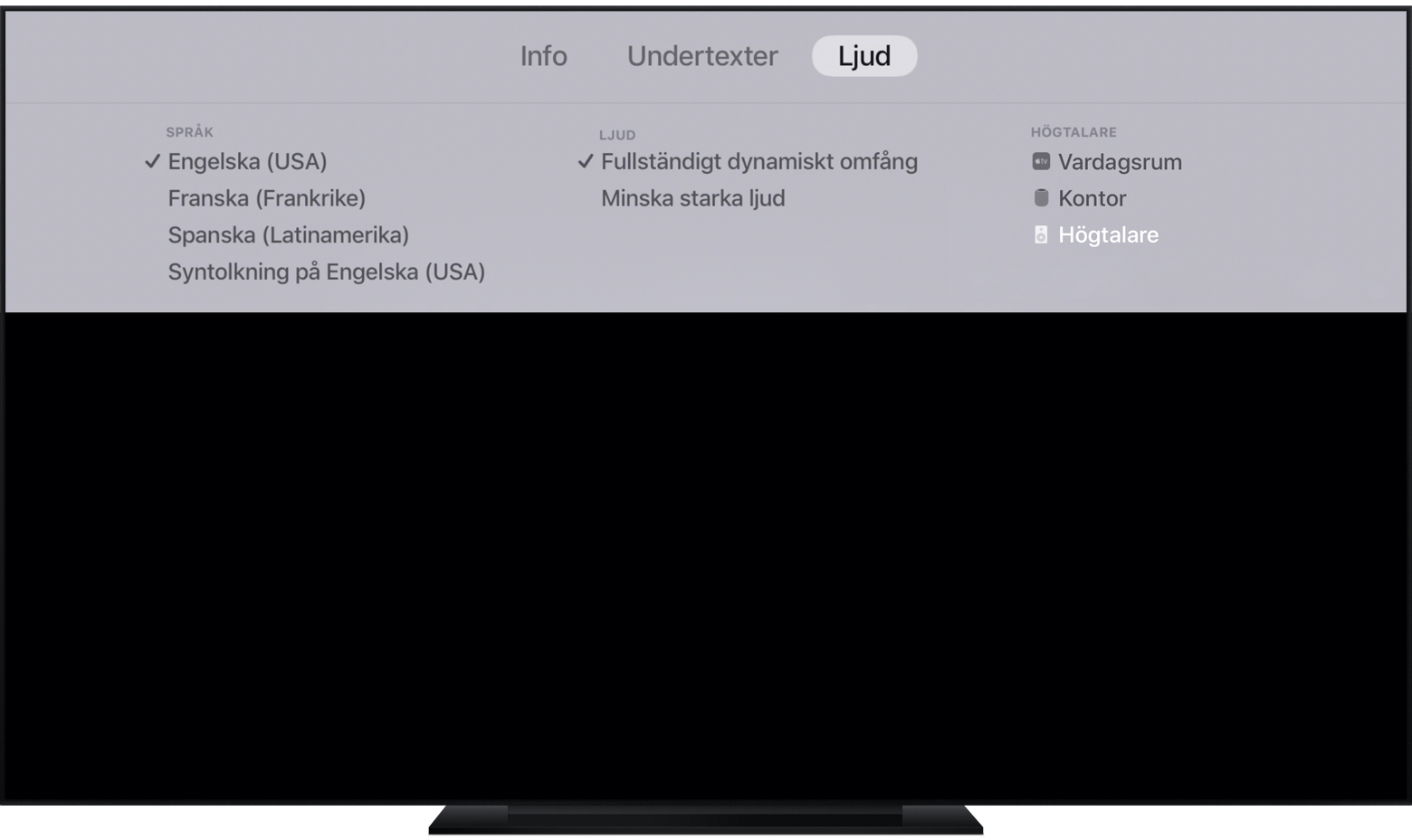 apple tv står spelas på apple tv
