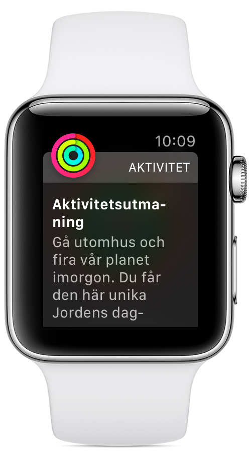 Ring i nyårsutmaningen på Apple Watch.