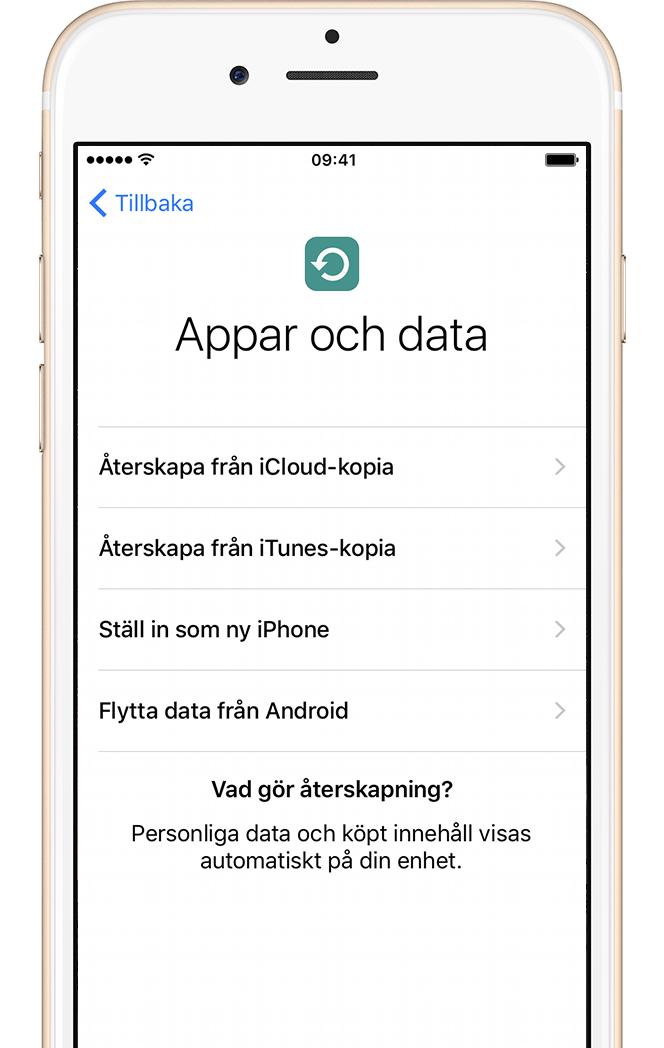 Ny Iphone Återskapa Från Tidigare Itunes