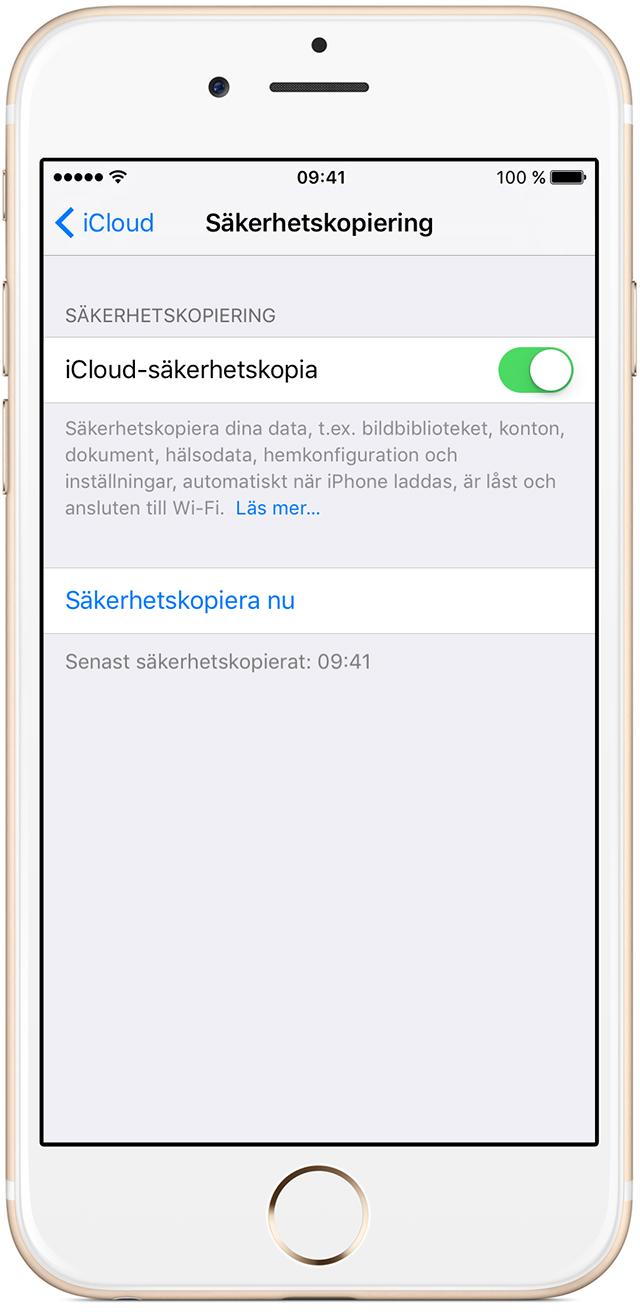 föra över säkerhetskopia till ny iphone