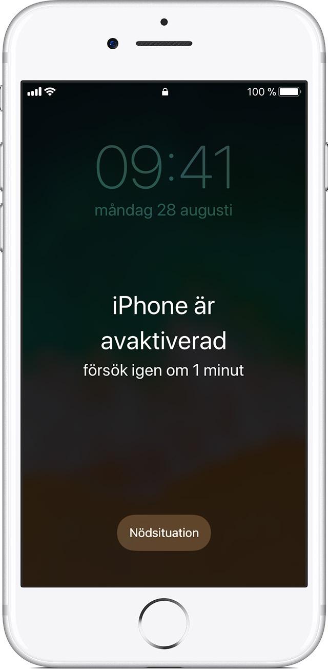 itunes avaktiverad iphone