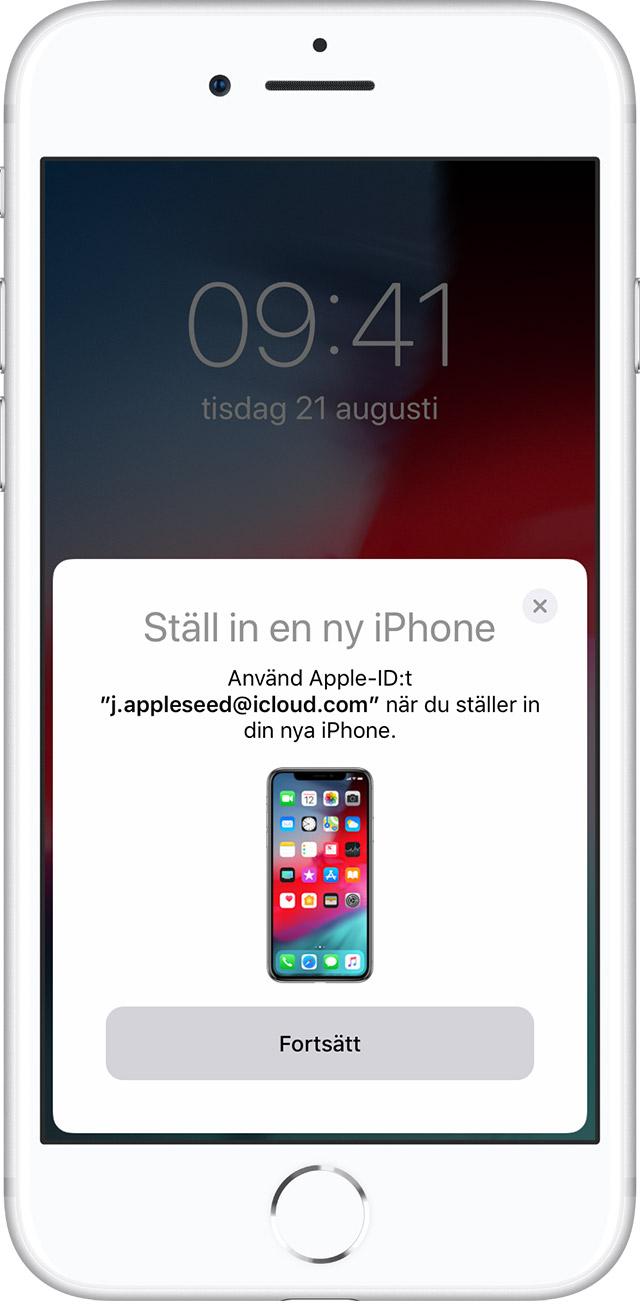 Min nya iphone hittar inte icloud