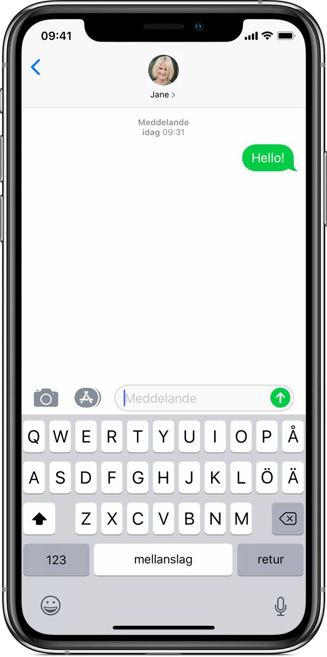 skicka glassogram sms