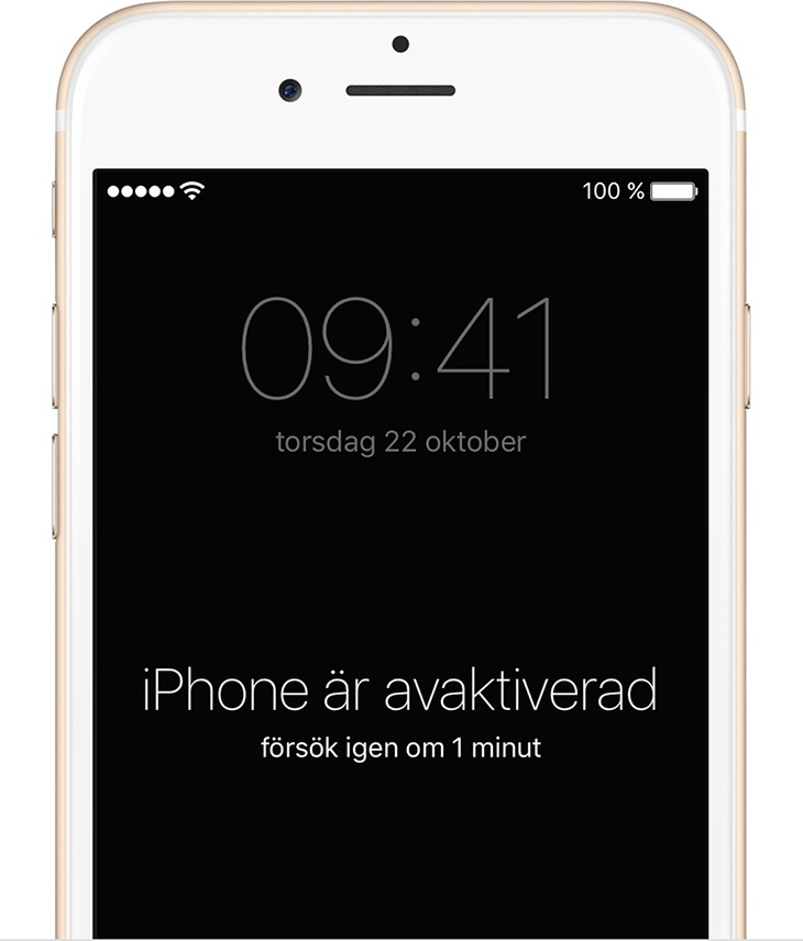 synkroniserat med itunes eller konfigurerat hitta min iphone i icloud