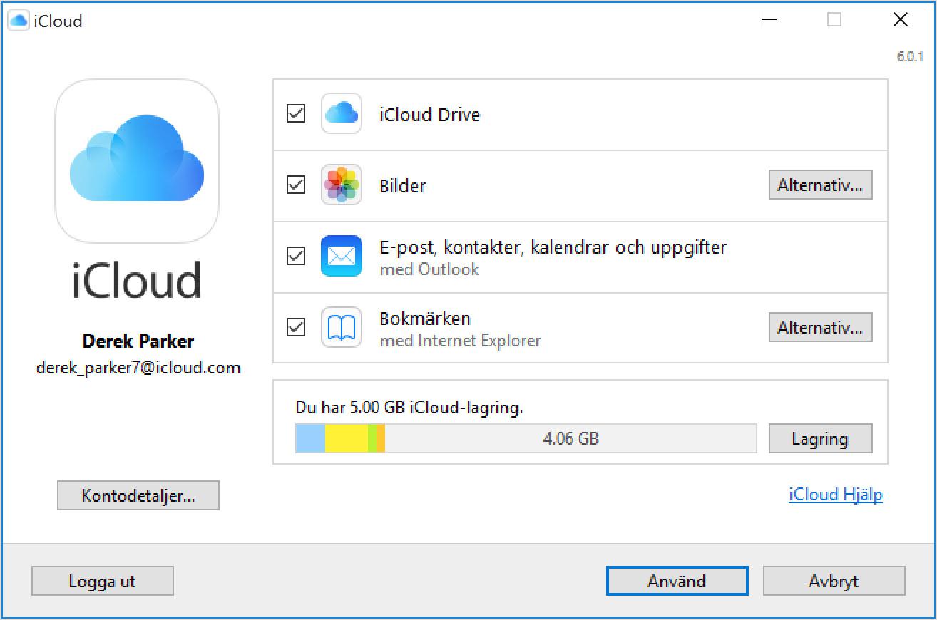Ställa in och använda iCloud för Windows - Apple-support