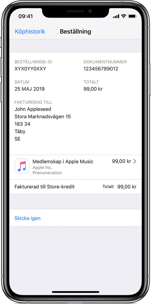 5cd41a11 Så faktureras köp i App Store och iTunes Store - Apple-support