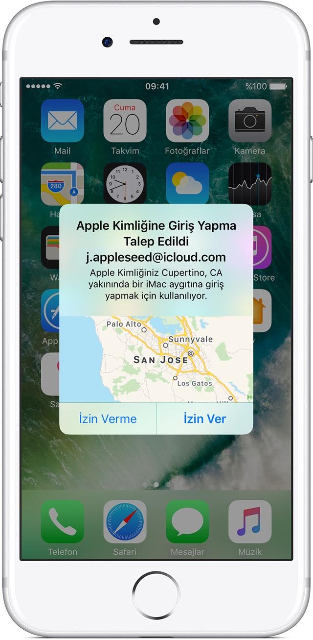 iPhone'daki uyarı