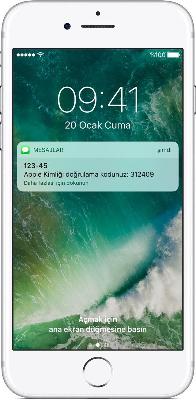 iPhone'daki bildirim
