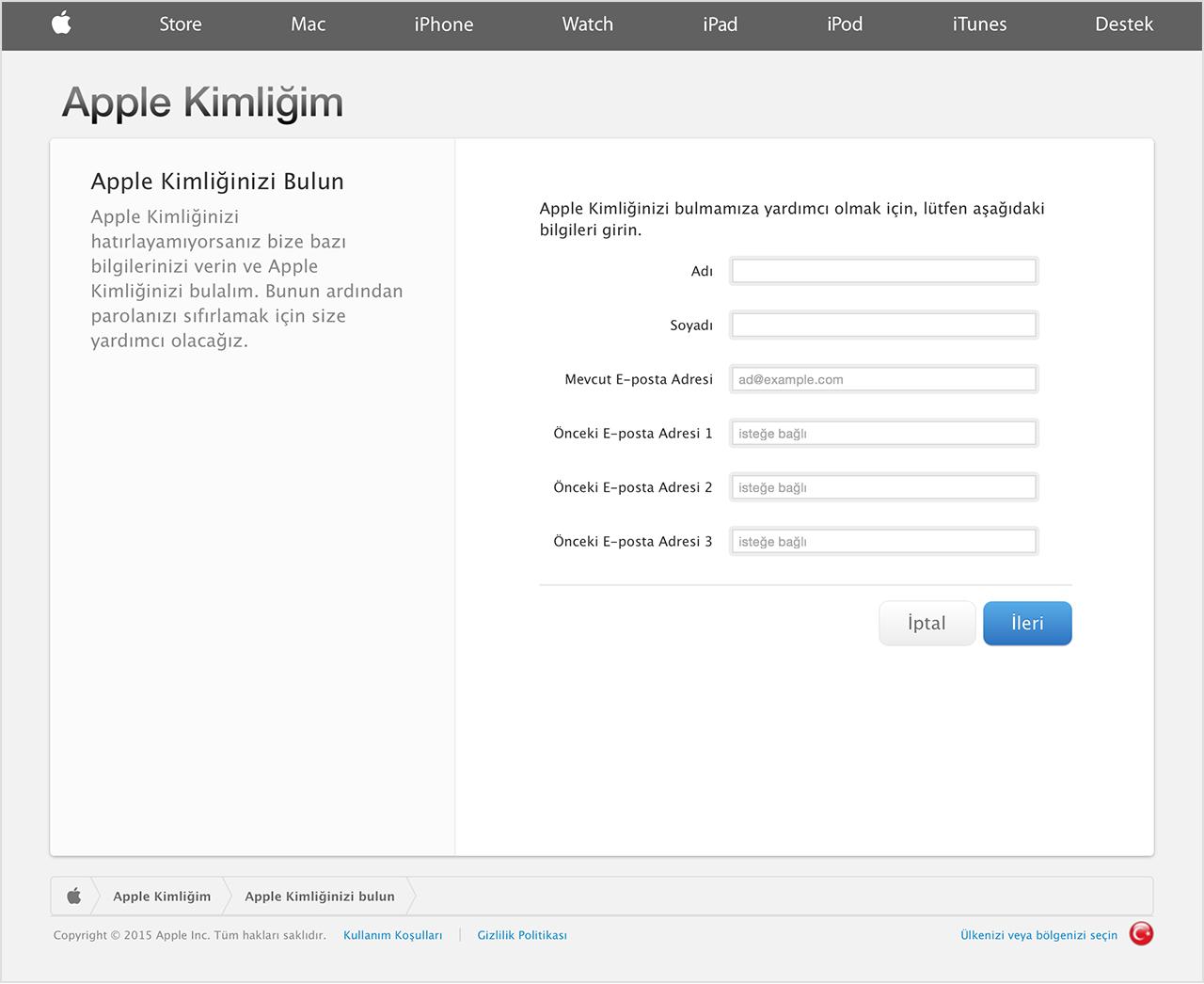 iOS aygıtı kurmak için