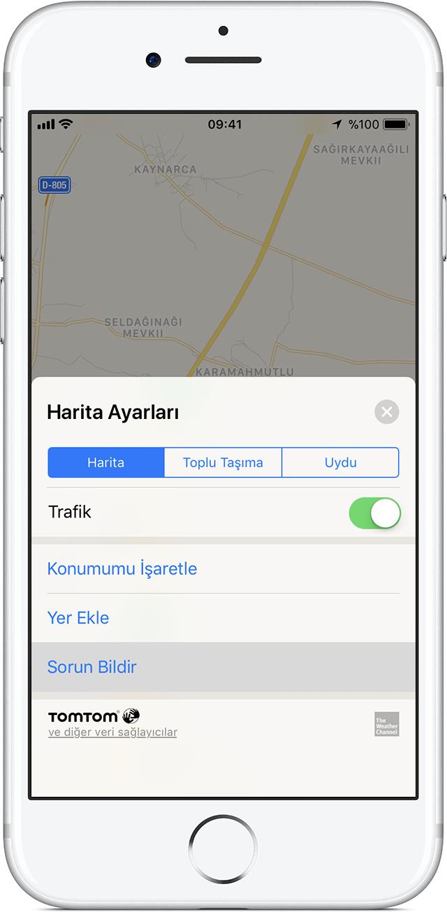 iphone harita takip