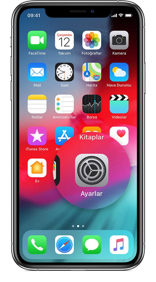 iphone X türkçe yazılım yükleme