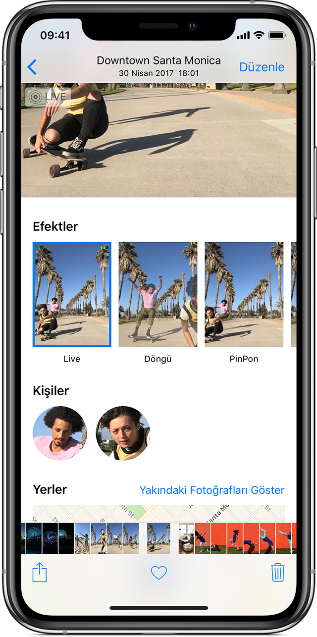 iPhone'da Live Photos efektleri ekleme