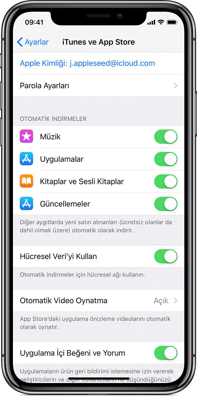 iphone yazılım güncelleme mobil veri