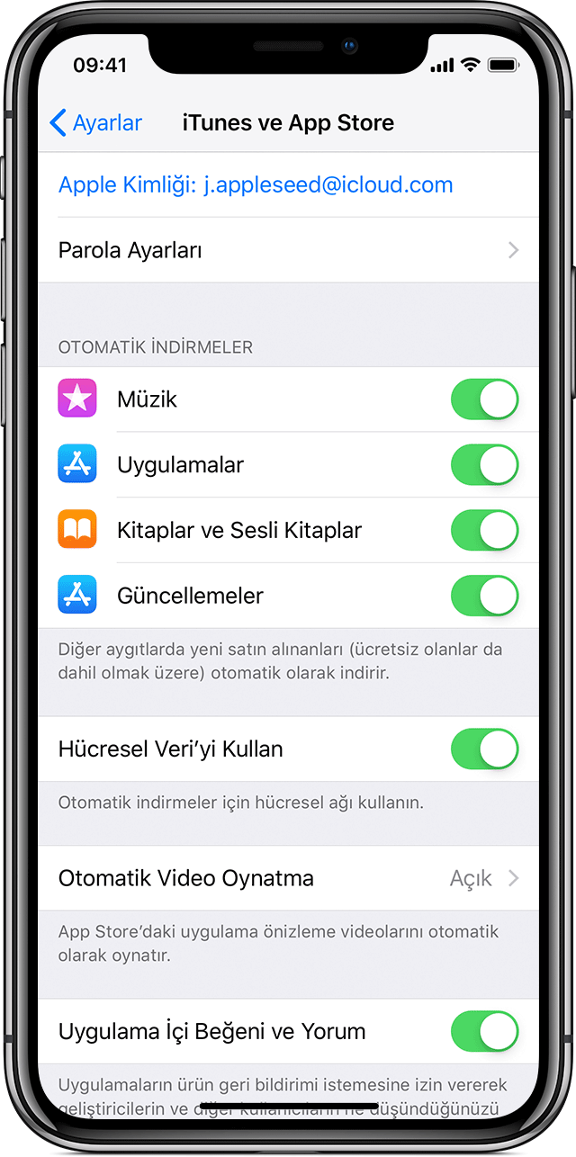 iOS 11'e güncelleme - Apple Destek