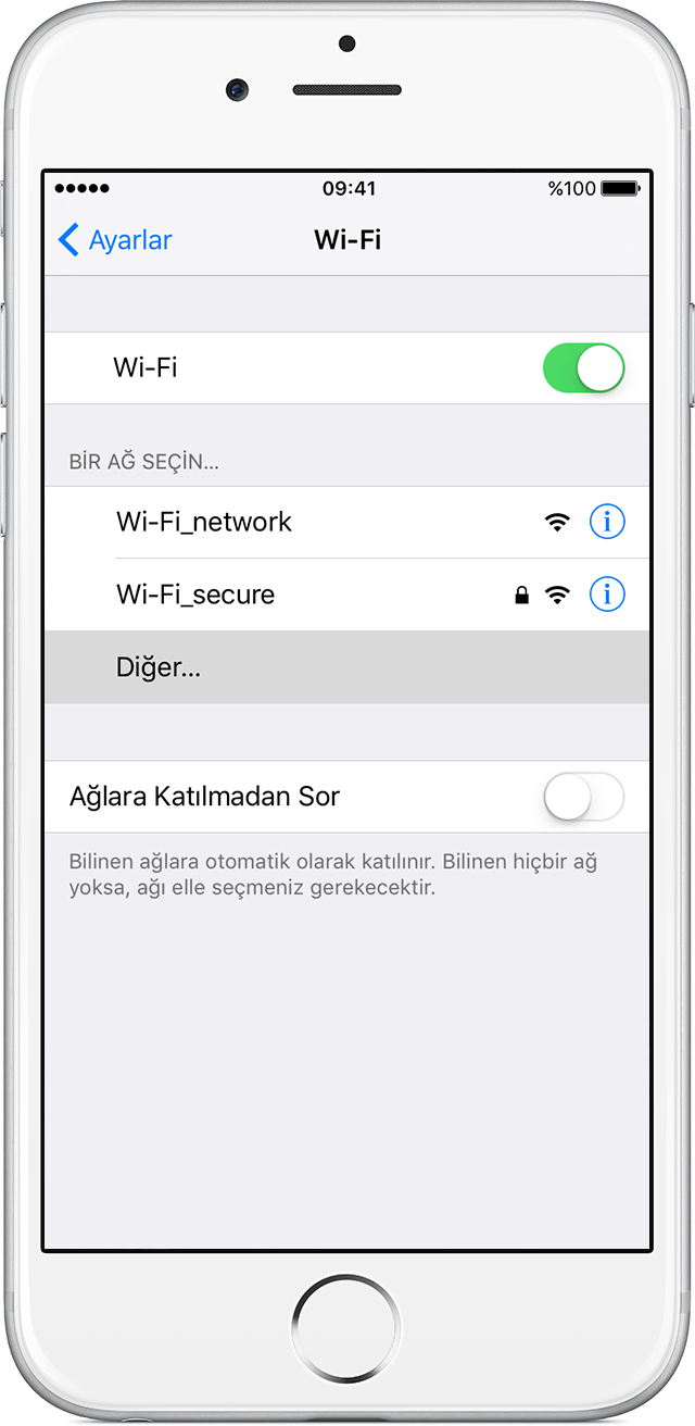 Iphone Ipad Veya Ipod Touch ınızda Wi Fi Ağlarına