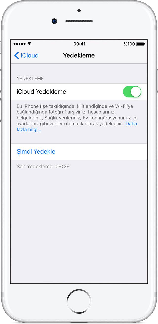 iPhone'da iCloud Yedekleme'yi açma