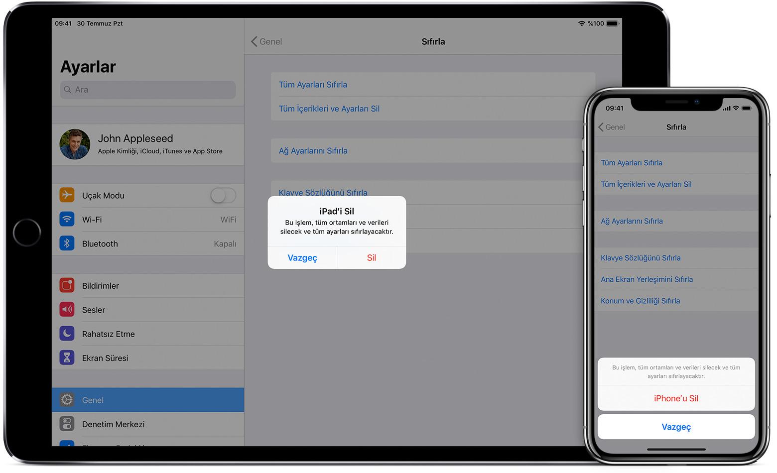 iPhone, iPad veya iPod touch aygıtınızı satmadan, başkasına