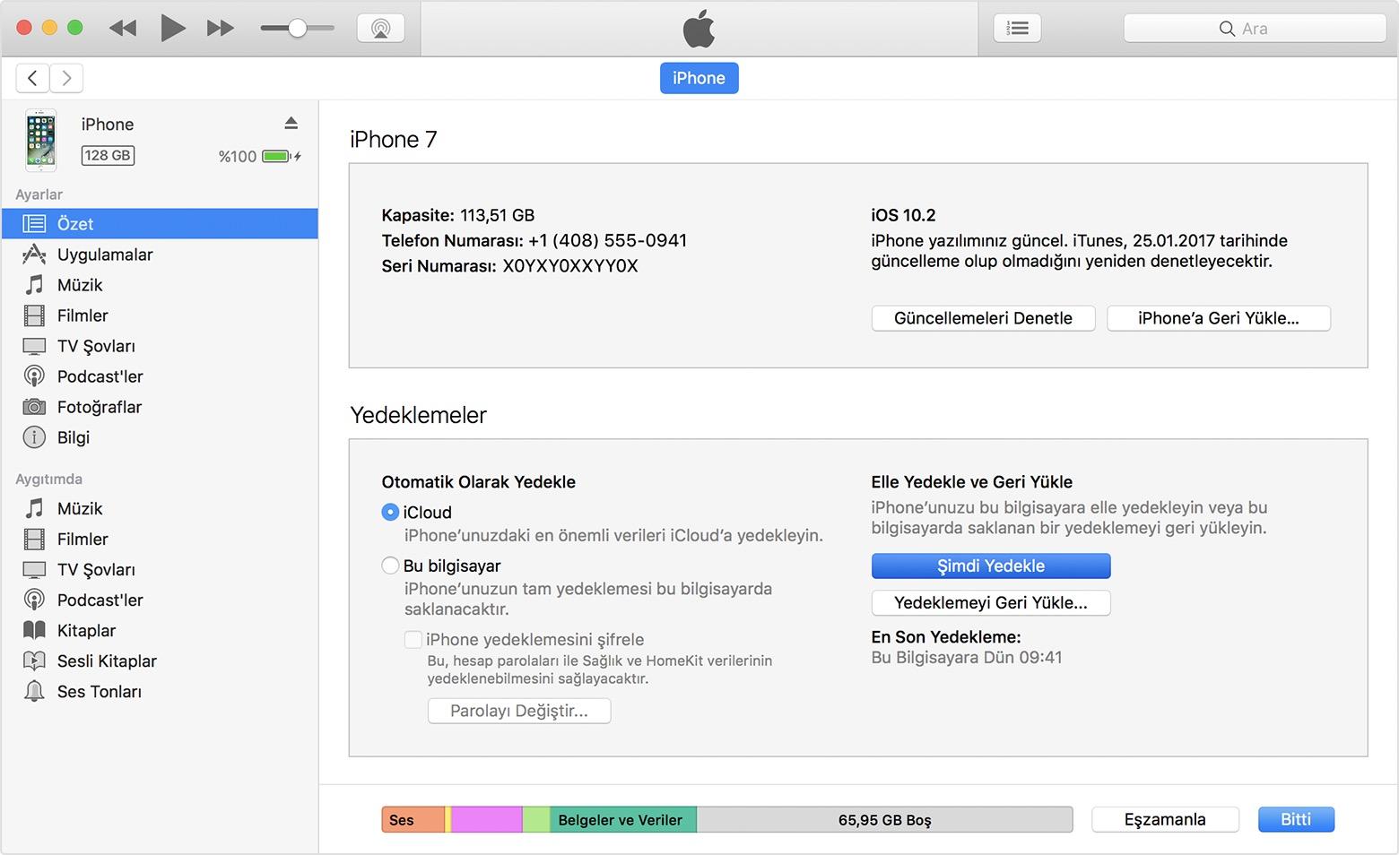 iphone 8 yazılım geri yükleme