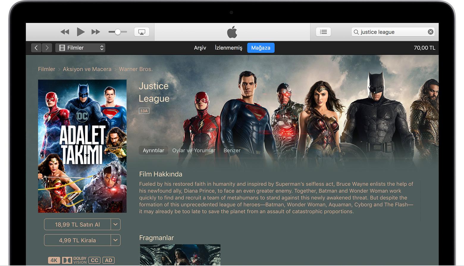 ITunes kullanarak bir filmi iPhonea nasıl yükleyebilirim