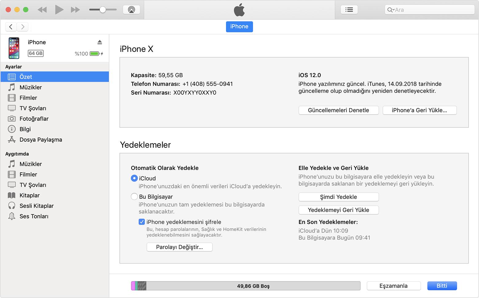 iphone 6s yazılım geri yükleme