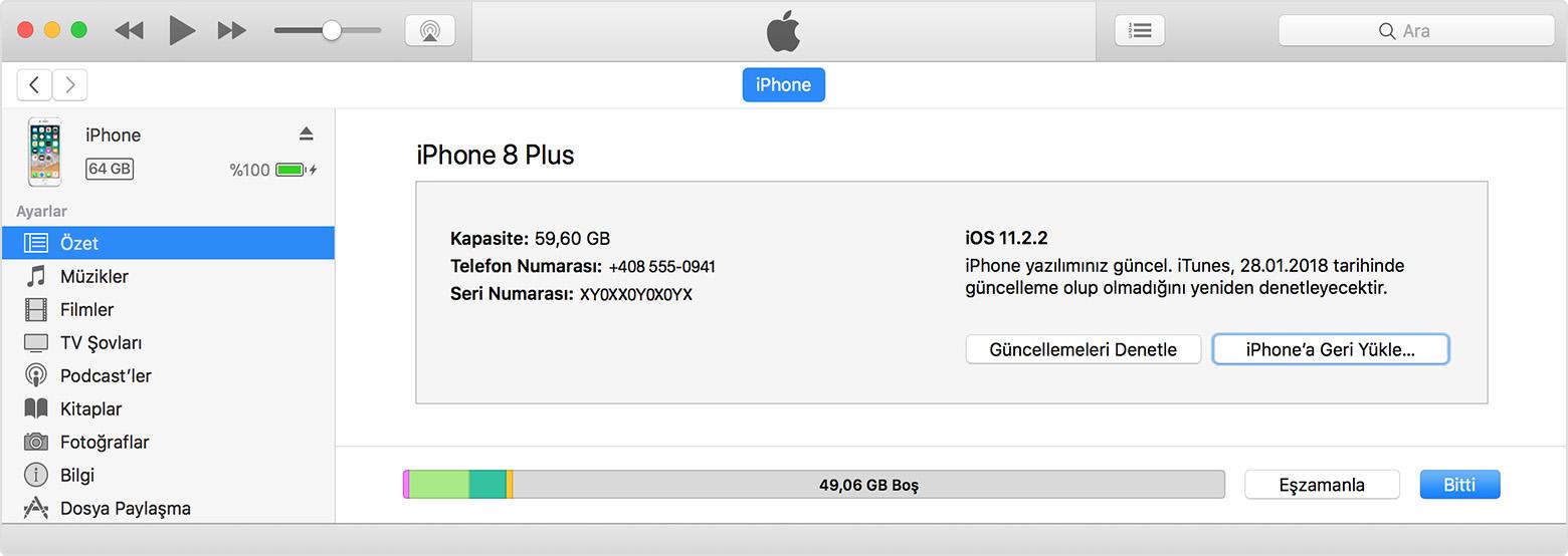 iphone yazılım güncelleme şifresini unuttum