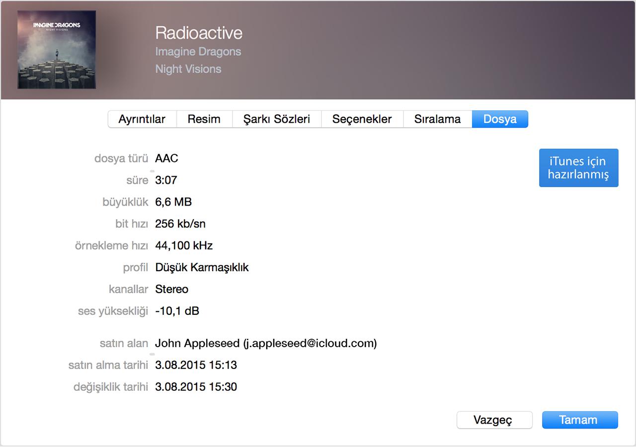 Apple Kimliği, iTunes