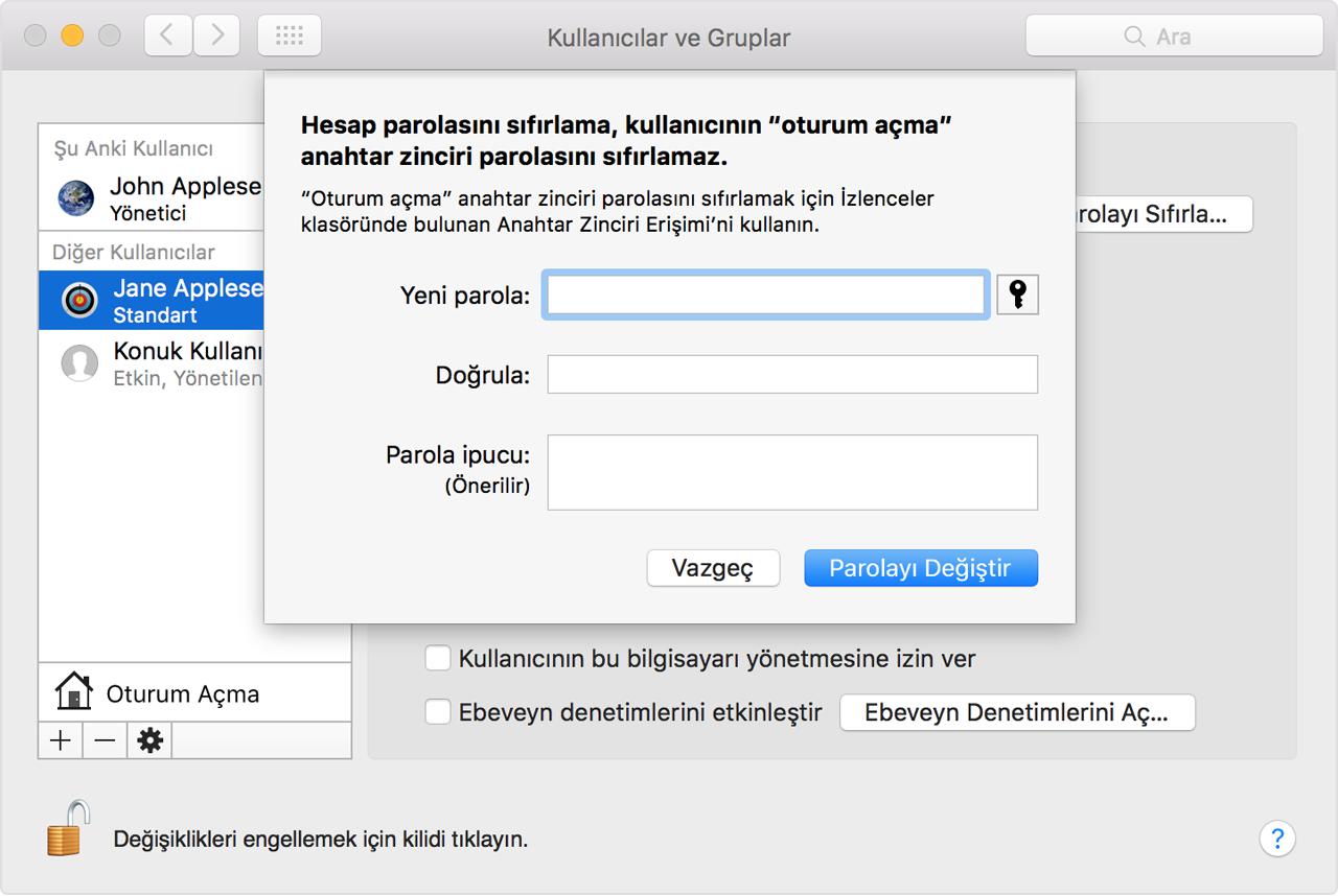 Dili MacBook olarak nasıl değiştirebilirim araç